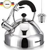 Stove Top Whistling Tea Kettle - Only Culinary Grade Stainless Steel Teapot