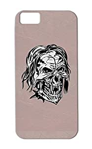 TPU Symbols Shapes Skull For Iphone 5c Drop Resistant Skull Silver Case Cover