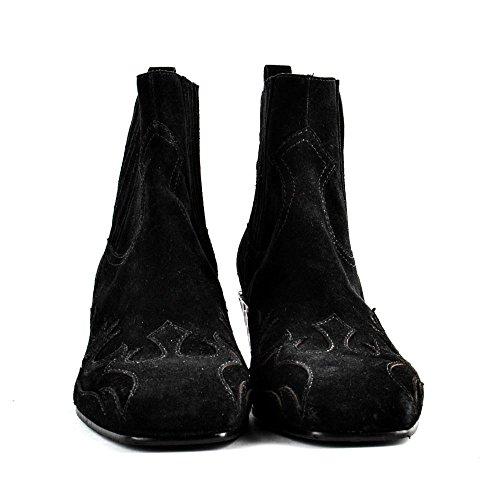 Ash Footwear Zapatos Ginger Bis Botines de Ante Negro Mujer Black