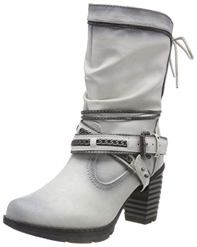 Mujer Botines Marfil ice Mustang Stiefelette 203 Para 7q0wwvZt
