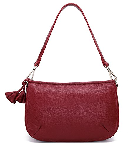 Layer Womens Wine Bags Designer Of First Cross Shoulder Bags Leather Red Body SAIERLONG Ladies EZqw1EI