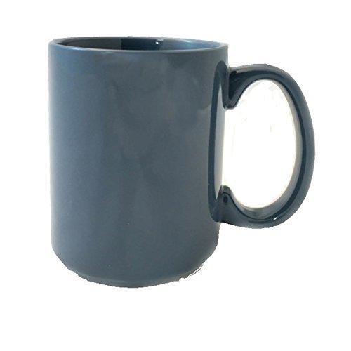 Main Street Sonata 15 oz Coffee Mugs - 4 Piece Set (Steel Blue)