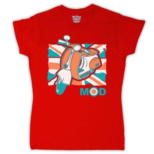 My Icon Art & Clothing -camiseta Mujer Rosso