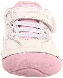 Stride Rite Soft Motion Bambi Sneaker (Infant/Toddler),White/Pink,3 XW US Infant
