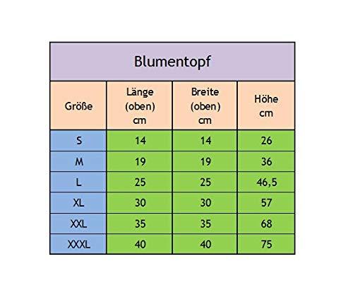 Untersetzer Pflanzkübel Pflanzkasten Blumenkübel Kunststoff quadratisch 36-46 cm