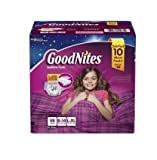 Health & Personal Care : GoodNites Bedtime Underwear for Girls (Size L/XL, 58 ct.) by GoodNites