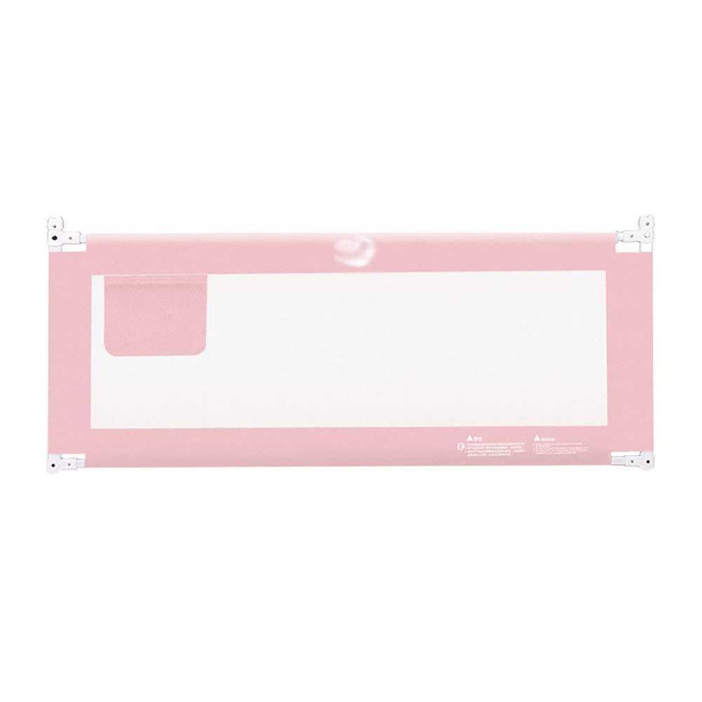 ベッドフェンス エクストラトールセーフティベッドレールガード、キッズツイン用ベッドレール、ダブル、フルサイズクイーン&キング、5ギア調整 (Color : Pink, Size : 180cm) 180cm Pink B07TZQZ1VV