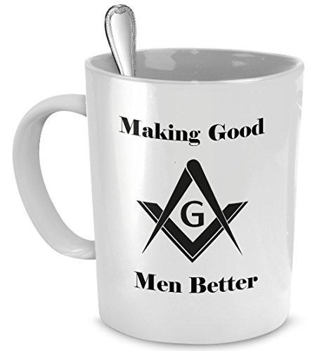 Masonic coffee mug - Making good men better mug - Freemason gift cup (Freemason Coffee Cup compare prices)