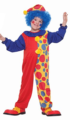 Value Priced Rainbow Clown Costume