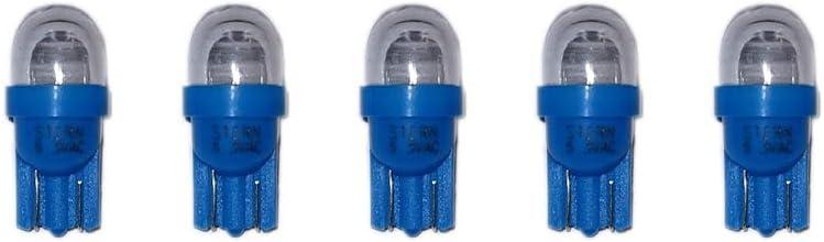 Stern Pinball Blue LED #555 Lamp 6.3v - 112-5033-05 (Set of 5)