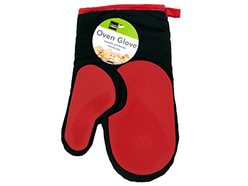 Heat Resistant Oven Glove with Silicone Grip-Package Quantity,24 by bulk buys