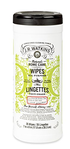(J.R. Watkins All-Purpose Wipes, Aloe and Green Tea, 35 Count)