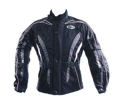 016d55c0945 RKSports Kids FIGO Motorbike motorcycle Textile Jacket in Black Waterproof  Windproof (XS/ 28-