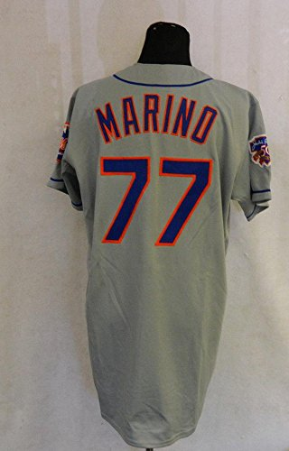 super popular 37a78 95e64 1997 New York Mets Marino #77 Game Issued Road Grey Jersey ...