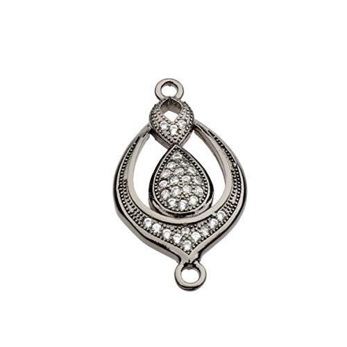 Mikash 18K Colorful CZ Zircon Evil Eye Beads Fashion Bracelet Necklace Charm Pendant   Model BRCLT - 7944   (Barware Set Links)