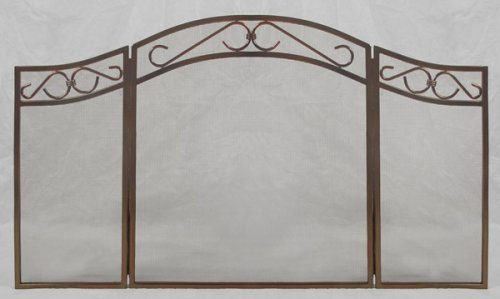 Woodfield 3-panel Rubbed-oil Bronze Fireplace Screen Screen by Aiden's Hearth