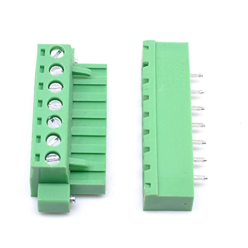 - Willwin 10Pcs 5.08mm Pitch 7 Pin PCB Pluggable Terminal Blocks Connectors Green