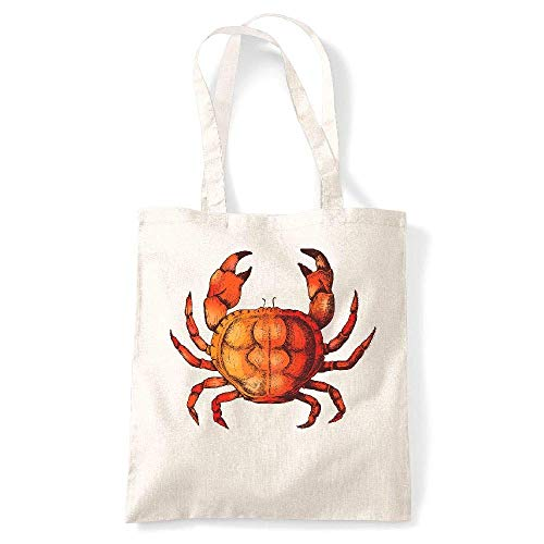 fond Crabe Tote My vintage kase Naturel Creme blanc Coton Gs Yvnfn7qU