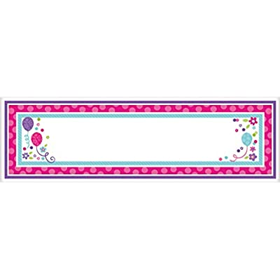 Amscan 120202 Banner, One Size, Purple and Teal: Kitchen & Dining