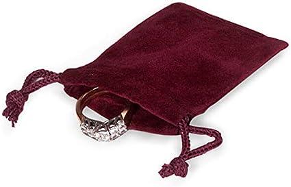 Crystal Bag Christmas favors 2 x2 12 Jewelry Bags Jewelry Supply Bag Charm Favor Bag 5 Burgundy Flat Velour Drawstring Dice Bag