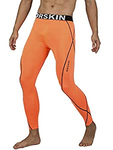 DRSKIN Compression Cool Dry Sports Tights Pants Baselayer Running Leggings Yoga Rashguard Men (L, DLO09)