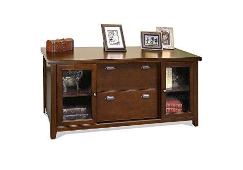 Tribeca Loft Cherry Glass Door Storage Credenza Tribeca Loft Burnt Umber Cherry Dimensions: 68.25''W x 24.25''D x 30''H Weight: 283 lbs by Martin Furniture