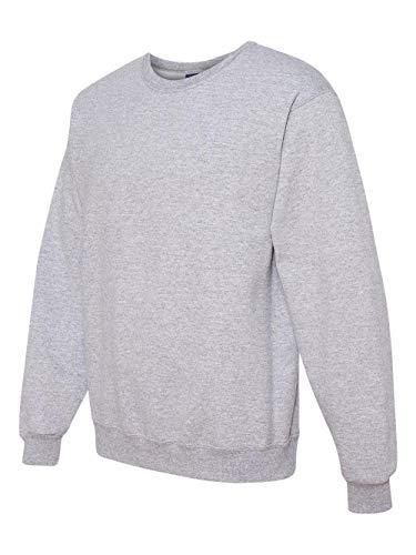 Jerzees Men's 562MR Crew Neck Sweatshirt, Ash, Small