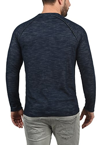 Coton Encolure 100 Pull Insignia Blue Sweat 1991 solid En Sweat shirt Homme Don Rond 1Zggnx0wvq