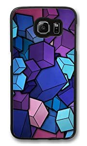 blue cubes Polycarbonate Hard Case Cover for Samsung S6/Samsung Galaxy S6 Black