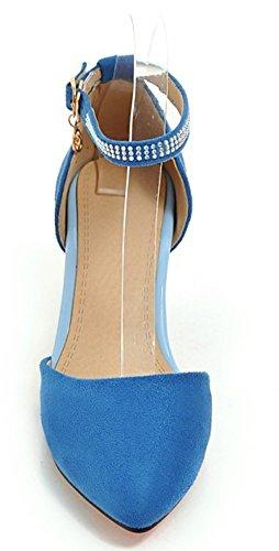 Chic Bride Escarpins Bleu Avec Cheville Aisun Breloque Boucle Femme 5A14gqWwPU