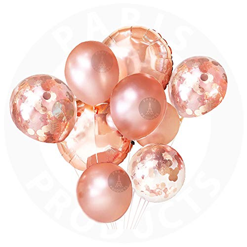 9pk Rose Gold Confetti Balloons for Mother Day Birthday Decorations Confetti Balloons Mylar Party Balloons Weddings Birthdays, Bridal Shower Romantic Decorations Bachelorette Party Women, Kids Unicorn]()