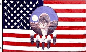 Indian Native American FLAG Dreamcatcher