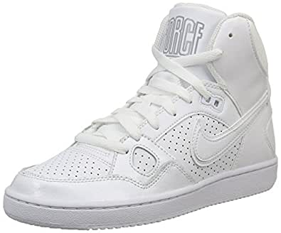 Nike Womens Son of Force Mid Trainers 616303 Sneakers Shoes (UK 4 US 6.5 EU 37.5, White Wolf Grey 110)