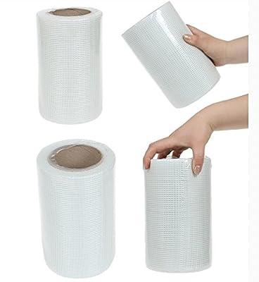 "LFI 8""X 25M Drywall Self Adhesive Mesh Wall Repair Fabric Joint Tape Roll"
