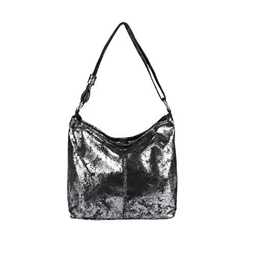 Asas Bolso Mujer beautiful Only De couture silber Para Grau Obc Piel 85wXqttx