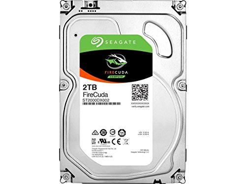Seagate 2TB FireCuda Gaming SSHD (Solid State Hybrid Drive) - 7200 RPM SATA 6Gb/s 64MB Cache 3.5-Inch Hard Drive (ST2000DX002)