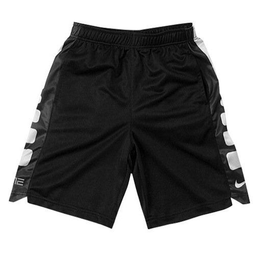 Nike Little Boys Elite Striped Short (2T Toddler, BLACK)