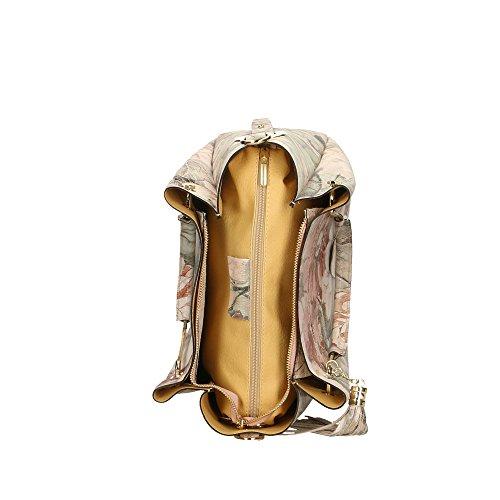 en Fleurs 33x30x13 Fantaisie véritable main Italy 4 Sac Aren in Made à cuir femme Cm gpqavxIH