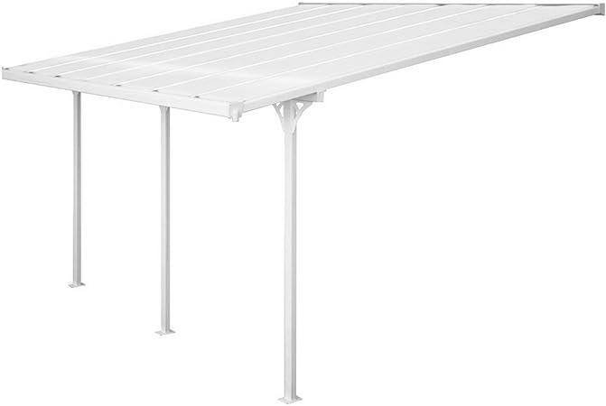 Pérgola de aluminio con techo de policarbonato Evergreen Carport, ideal para guardar el coche - Shelter F: Amazon.es: Jardín