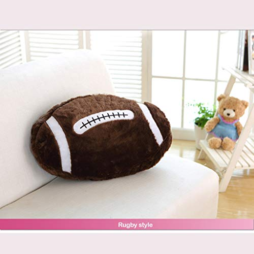 YunZyun Spherical Pillow Spherical Cushion Lumbar Pillow Sofa Chair Creative Plush Toys Pillow Cushion for Living Room and Bedroom Decor (Brown, L) ()
