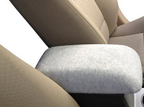 Car Console Covers Plus Made in USA Fleece Center Armrest Console Cover Designed to fit Kia Sorento Models 2015-2016 Light Gray