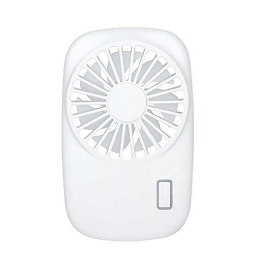 Camera Mini Handheld Personal Fan Rechargeable,USB Portable Adjustable Rechargeable USB Fans Travel Cooler with 2 Speed(White) by KingTo