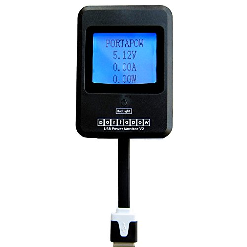 PortaPow USB Power Monitor Version 2 (Multimeter / DC Ammeter for Solar Panels, Mains Chargers, etc)