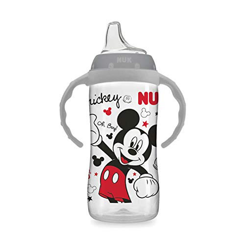 NUK Disney Large Learner Sippy Cup, Mickey Mouse, 10oz 1pk (The Best Sippy Cup To Transition To From Bottle)