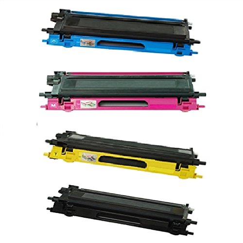 WOC: Brother TN110 / TN115 Compatible Replacement Jumbo (100-167% Higher Yield) Toner Cartridges 4-Pack (Cyan + Magenta + Yellow + - 4k 167
