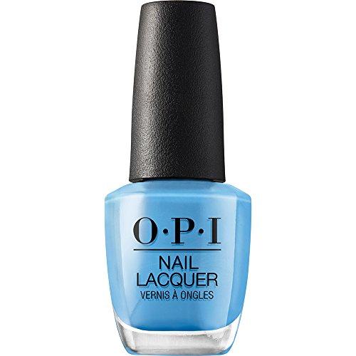 bright blue opi nail polish - 1