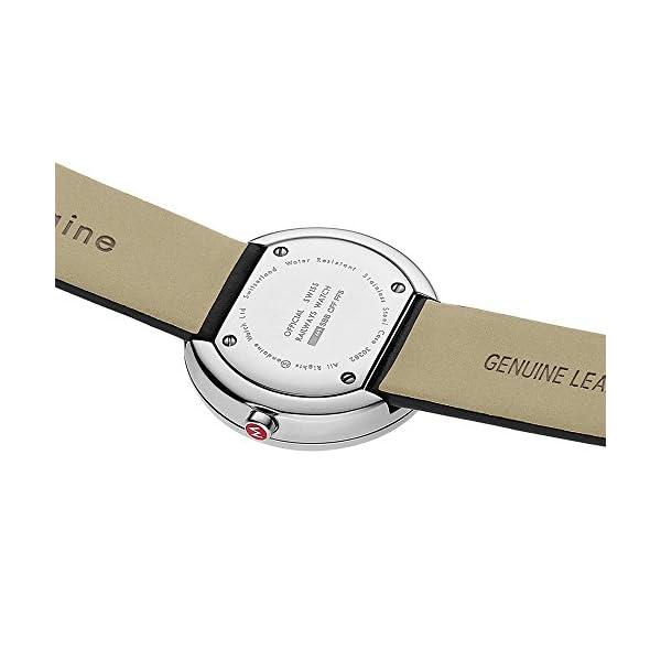 Mondaine A763.30362.11SBB - Orologio al quarzo unisex con display analogico bianco e cinturino in pelle nera 4