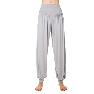 Hioinieiy Women's High Waisted Harem Pants Max Soft Thin Genie Loose Pant Casual Yoga Palazzo at Women's Clothing store