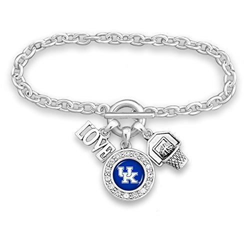 FTH Kentucky Wildcats Silver Tone Basketball Charm Bracelet
