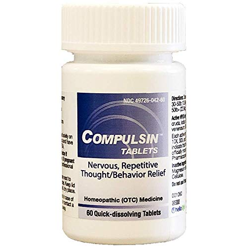 HelloLife Compulsin Tablets - Natural Relief for Nervous, Repetitive Thoughts/Behavior Symptoms - for Safe, Temporary Relief of: Disproportionate Fears + Repetitive Thoughts + Behavioral Urges